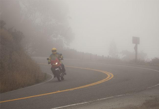 moto-niebla